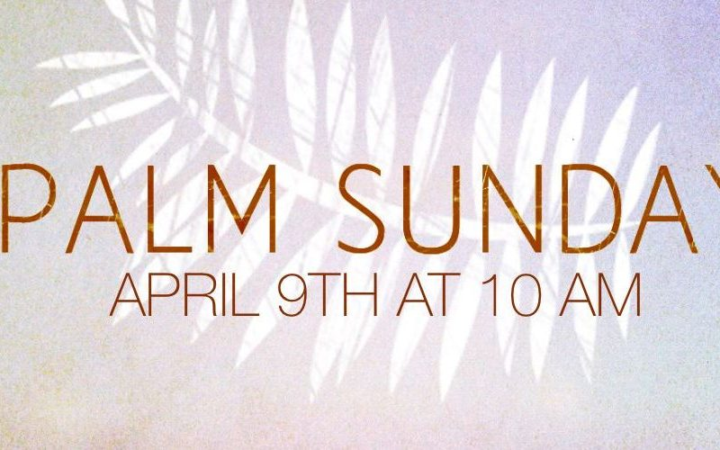 Palm Sunday 2017 – We All Make A Choice